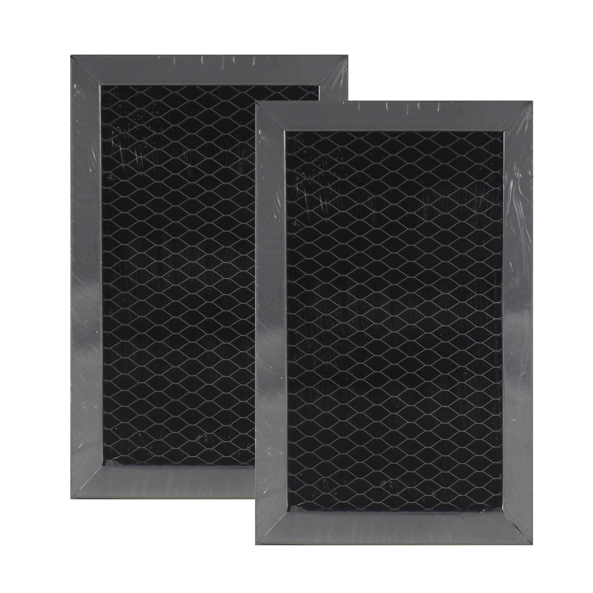 2 PACK 1084770 GE Microwave Charcoal Carbon Filter Replacements by Air Filter...