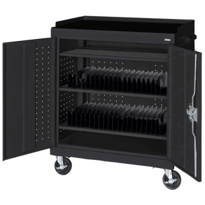 Mobile Tablet Storage Cart Black  MTS36243709 METMTS36243709