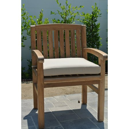 Willow Creek Huntington Teak Outdoor Dining Chair with Arms ()