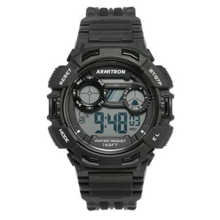 Armitron Unisex Black Digital Watch Collection Digital Unisex Watch