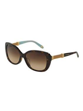 027a95cb3e0 Product Image Tiffany Sun 0TF4106B Full Rim Cat Eye Womens Sunglasses -  Size 57 (Dark Havana