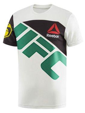60da55d22e36 Product Image Reebok UFC Jersey Jose Aldo Men s Athletic T-Shirt  White Green ai0424