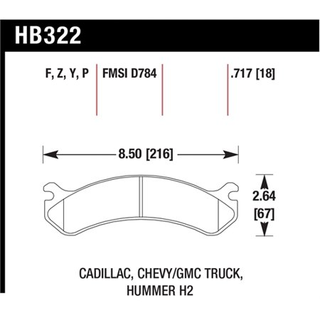 - Hawk Chevy / GMC Truck / Hummer Super Duty Street Front Brake Pads