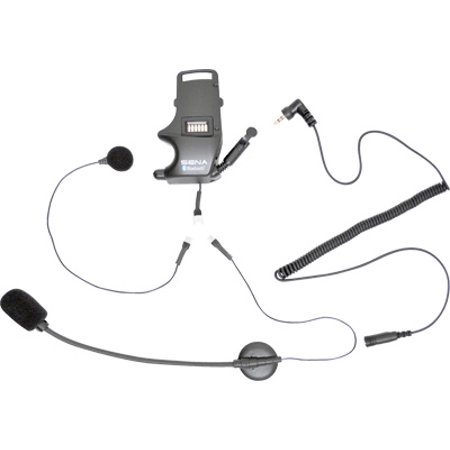 SENA Clamp Kit for Earbuds with Attachable Boom and Wired Microphone (Motorcycle Boom Mic)