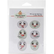 Peachy Keen Stamps Clear Face Assortment 6/pkg-get Well Soon