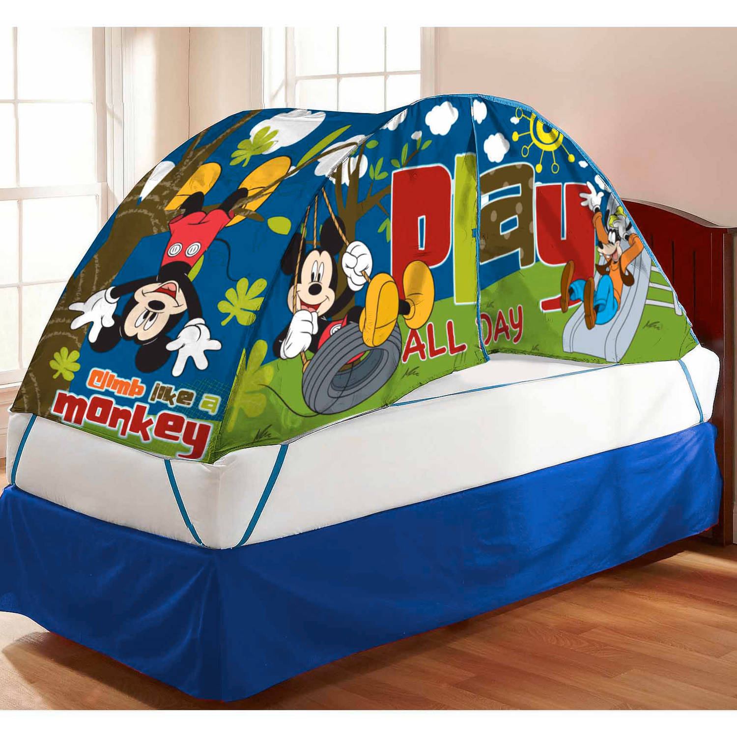 Mickey Mouse Bed Tent with Pushlight & Mickey Mouse Bed Tent with Pushlight - Walmart.com