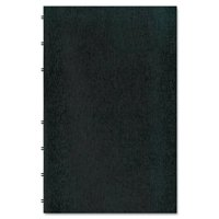 Rediform AF615081 MiracleBind Notebook, College/Margin, 8 x 5, White Paper, 75 Sheets, Black Cover