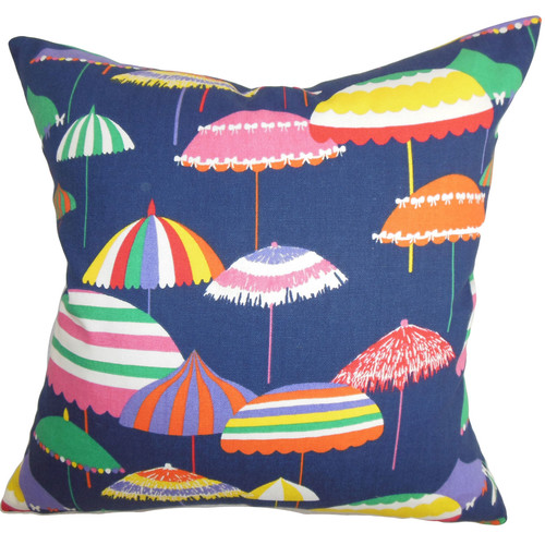 The Pillow Collection Yaffa Geometric Cotton Throw Pillow