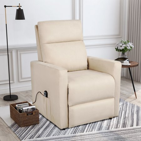 Cool Electric Recliner Chair Heavy Duty Power Lift Recliners For Elderly Wide Seat 375 Lb Capacity Bedroom Chair With 2 Side Pockets 2 Button Remote Spiritservingveterans Wood Chair Design Ideas Spiritservingveteransorg