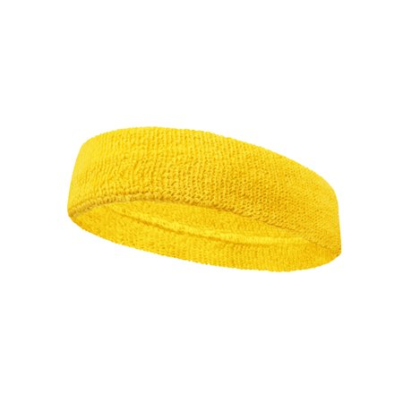 Couver Unisex Large & Thick Plain Solid Basketball Head Sweatband, Bright Yellow - Bright Purple Uggs