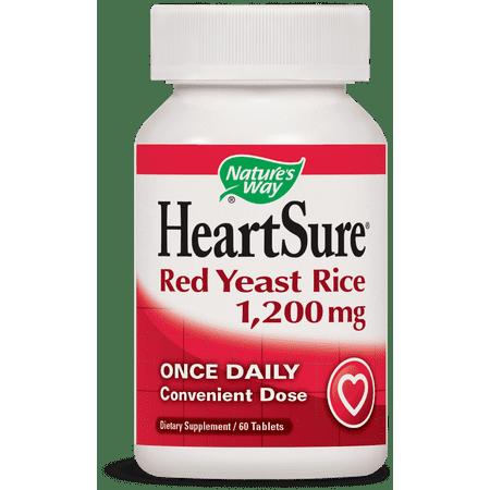 Nature's Way HeartSure Red Yeast Rice Dietary Supplement 1200 mg Tablets, 60 - Red Yeast Rice Dietary Supplement