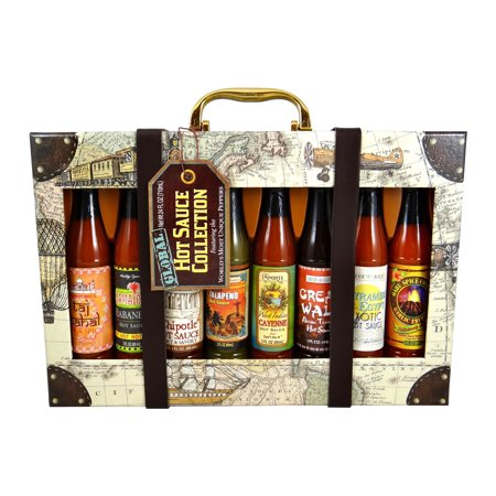 Dat'l Do-It Global Hot Sauce Gift Set, 8 Assorted Flavors, 24 Total Ounces, 1Ct.