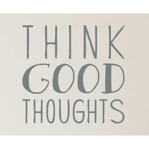 Wallums Wall Decor Think Good Thoughts Wall Decal