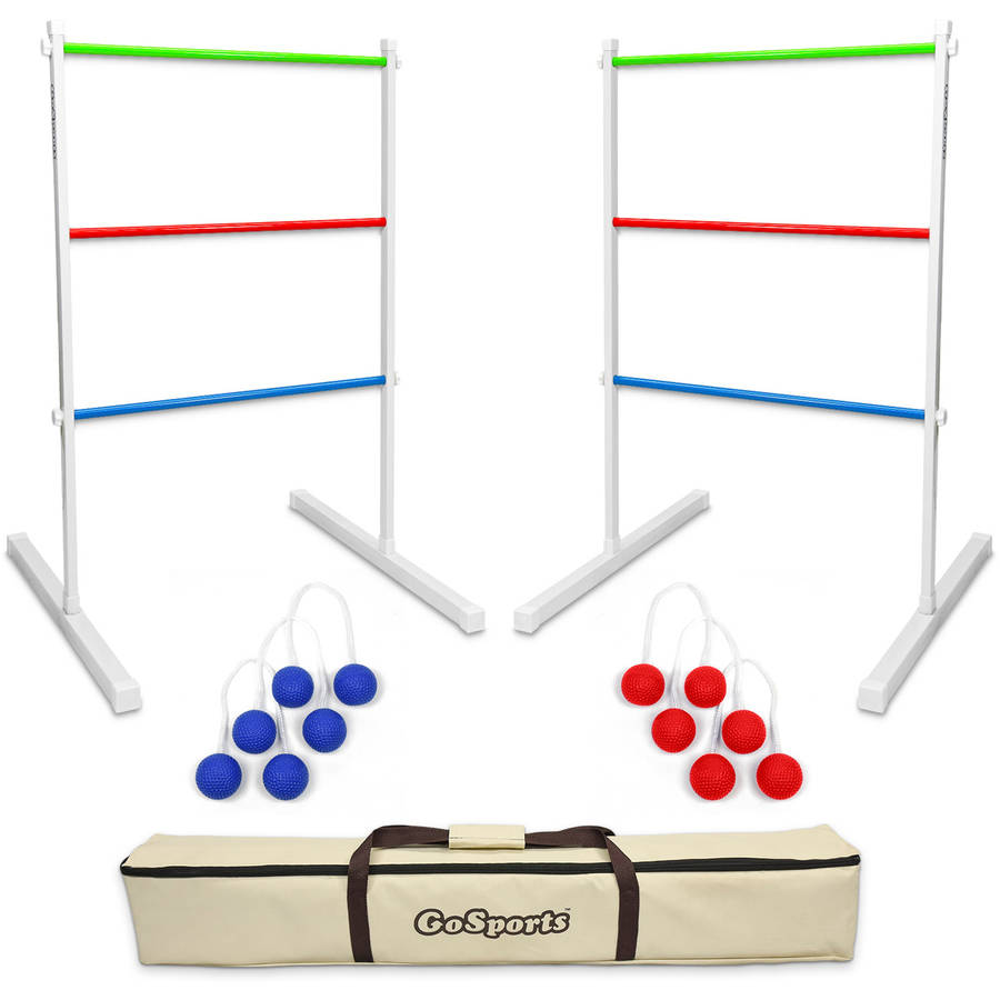 GoSports Metal Ladder Toss Game with 6 Bolos and Carrying Case
