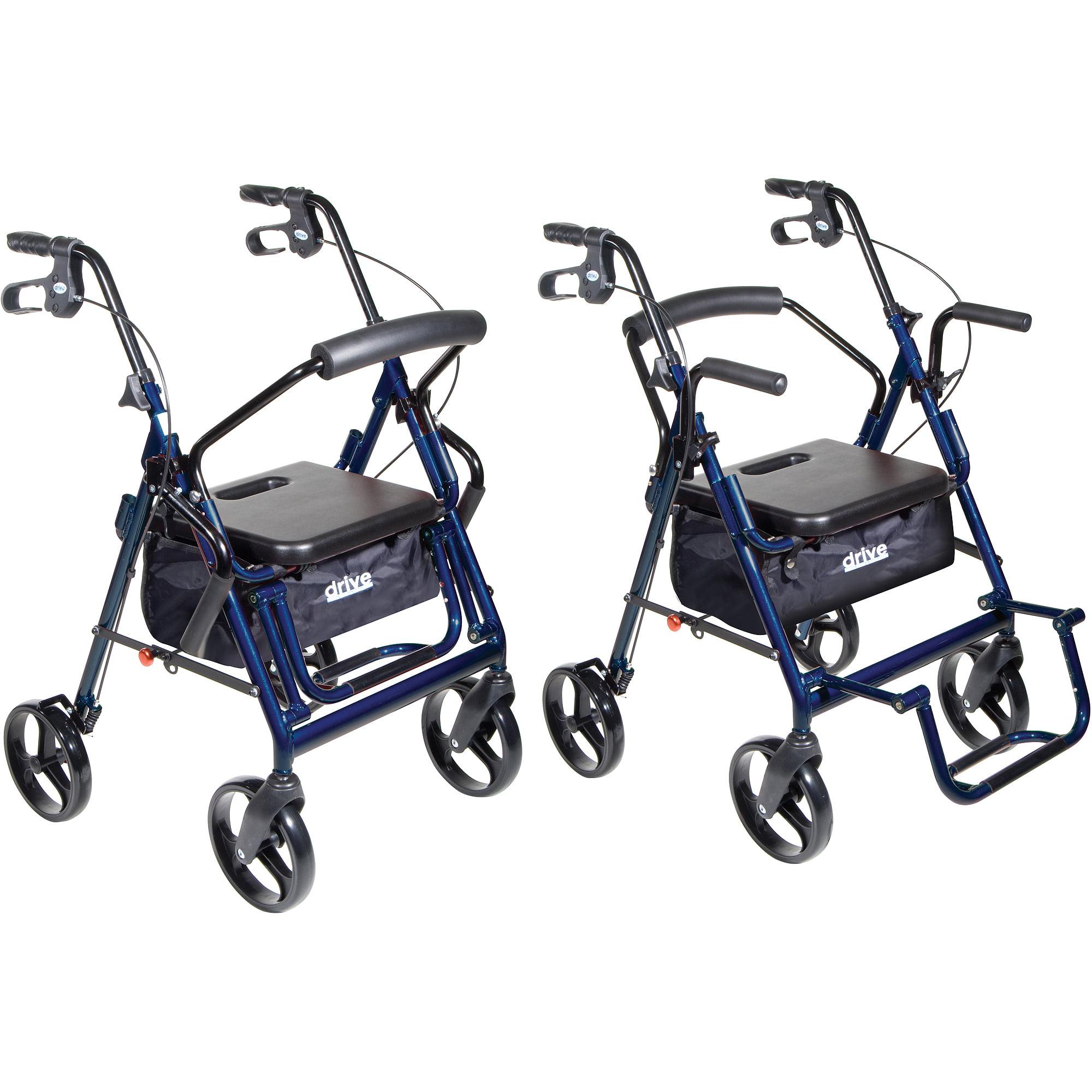 Drive Medical Duet Dual Function Transport Wheelchair Walker