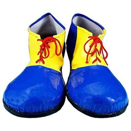 Forum Novelties Children's Sized Clown Shoes, Blue and Yellow, - Cheap Clown Shoes