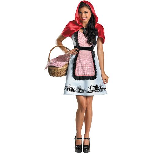 Fairytale Riding Hood Adult Halloween Costume