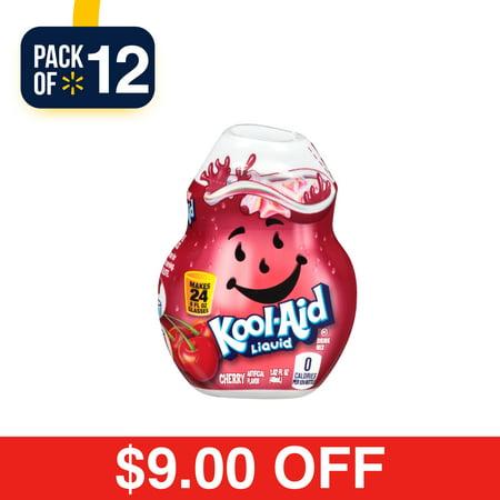 (12 Pack) Kool-Aid Cherry Liquid Drink Mix, 1.62 fl oz