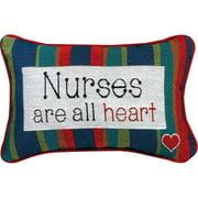 Manual Woodworkers & Weavers Nurses... All Heart Word Lumbar Pillow