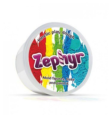 Zephyr, Kinetic Play-doh in containers (White) Kinetic Sand Modeling Plasticine Polymer Clay Could be Baked