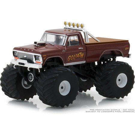GREENLIGHT 1:64 KINGS OF CRUNCH SERIES 2 - 1979 FORD F-250 MONSTER TRUCK GOLIATH (BROWN OR MAUVE)