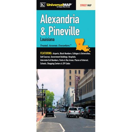 Universal Map Alexandria Pineville Louisiana Fold Map  Set Of 2