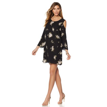 G by GIULIANA Women Cold Shoulder Printed Dress WILDFLOWER PRINT Size 4