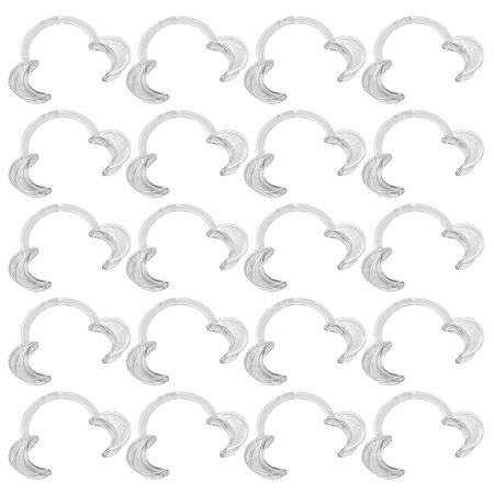 Ezgo 20 Pieces  Size L  C Shape Teeth Whitening Cheek Retractor  Autoclavable Dental Mouth Opener  Disposable Dental Lip Cheek Retractor For Mouthguard Challenge Game