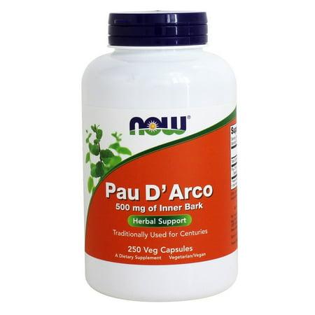 Pau Darco Bark Extract (NOW Foods - Pau D'Arco Inner Bark 500 mg. - 250 Vegetable Capsule(s))