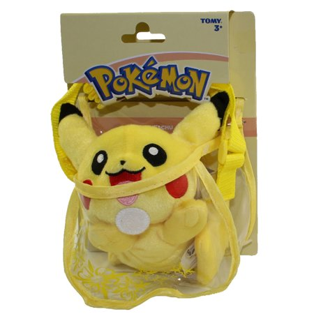Pokemon Tomy Shoulder Plush - PIKACHU with Carrying Bag & Strap (6 inch)](Pokemon Gift Bags)