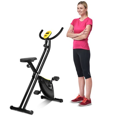 Costway Foldable Exercise Bike Compact Indoor Cycling Home Workout