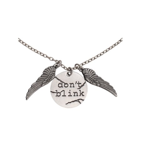 Doctor Who Dont Blink Disc Charm Pendant Necklace](Blinking Jewelry)