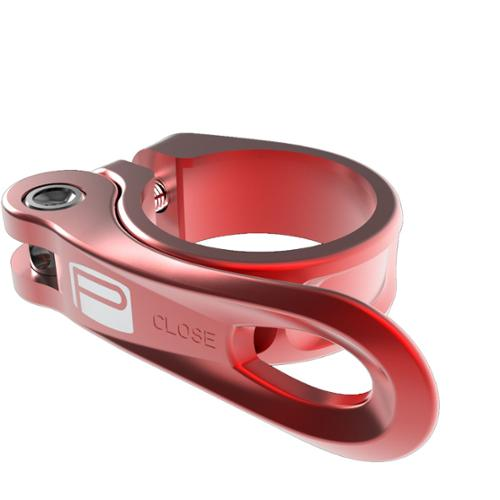 Promax Components QR-1 Mountain Bicycle Quick Release Seat Clamp - PX-SC130Q (Red - 34.9)