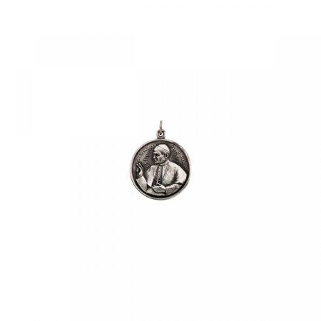Pope John Paul Medal - Sterling Silver 20.5 Round Pope John Paul II 18