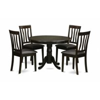 East West Furniture HLAN5-CAP-LC 5 Piece Small Kitchen Table and Chairsset--Small Kitchen Table and 4 Dinette Chairs