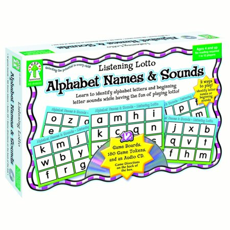 Carson-Dellosa, Grades PreK-1 Alphabet Names/Sounds Game, 1 Each, (Sound Games For Kids Guess The Sounds)