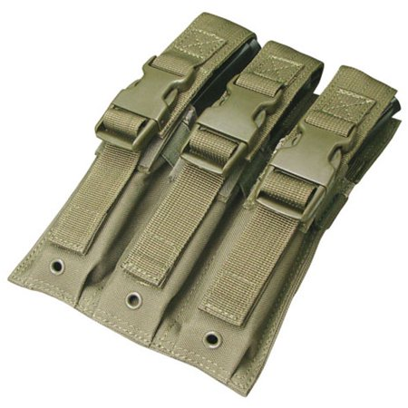 - Condor MA37 Triple Buckle Top MP5 Magazine MOLLE Pouch Holster - OD Green