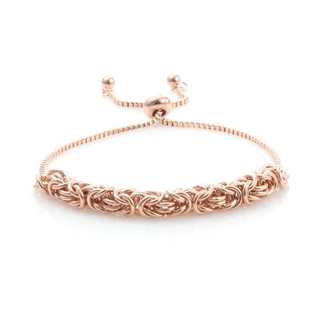 Boho Handmade Rose Gold ION Plated 18K Yellow Gold Bolo Bracelet Gift Jewelry for Women Adjustable 18k Yellow Gold Bracelet