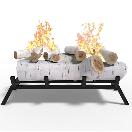 Regal Flame ECK2018BRC 18 in. Birch Convert to Ethanol Fireplace Log Set with Burner Insert From Gel or Gas