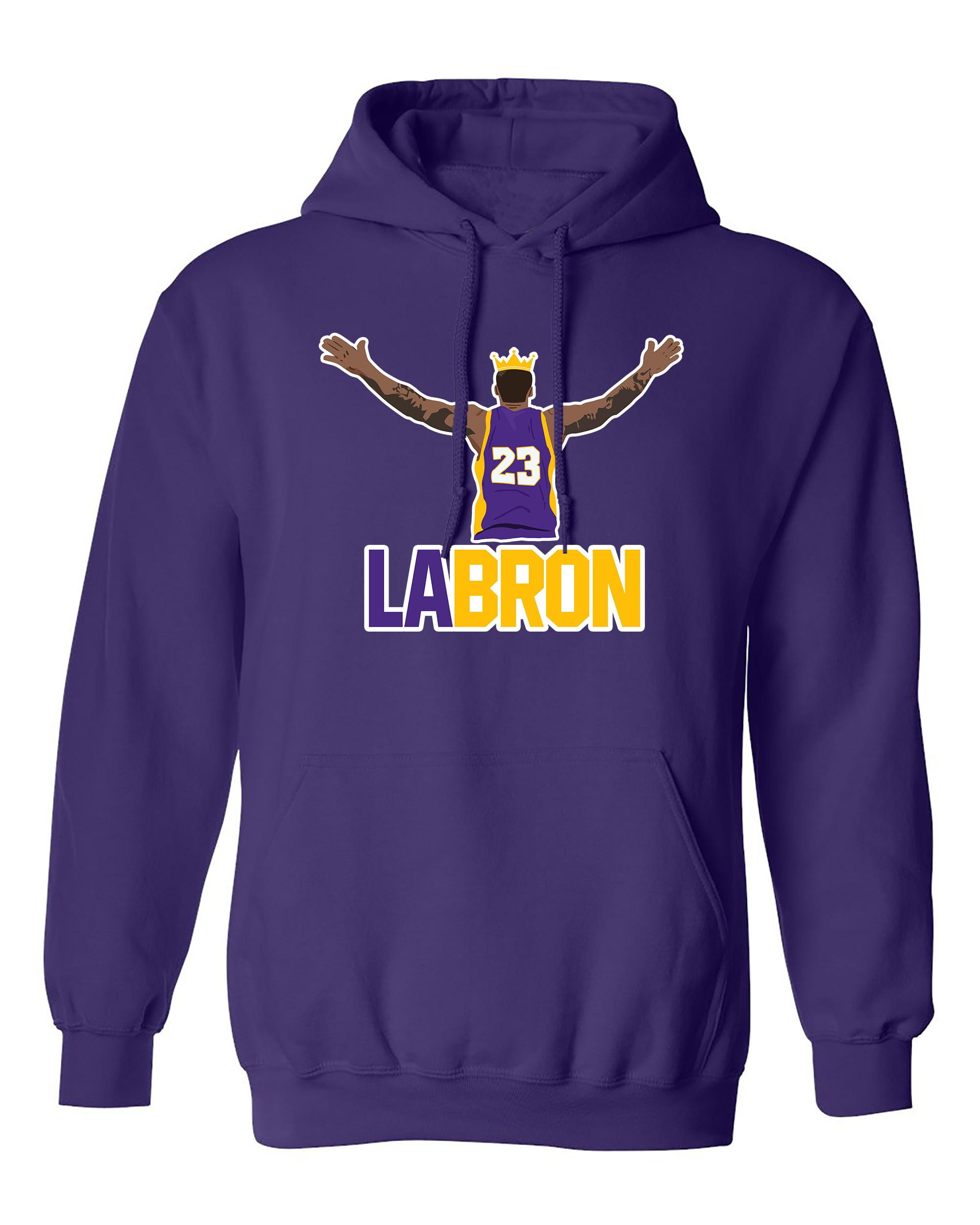 Lebron Open Hands Los Angeles LA Basketball Fan Wear DT Sweatshirt Hoodie