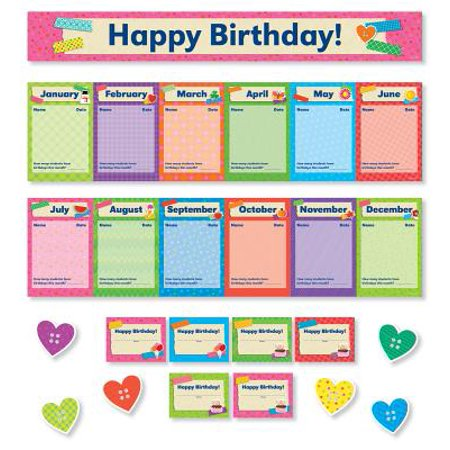 Tape It Up! Birthdays Mini Bulletin