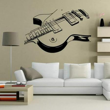 """Guitar Music Wall Art Decal Decor Vinyl Dance Musical Mural Sticker 36"""" Wall Vinyl"""