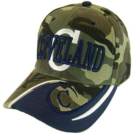 437b353f43f988 BVE Sports Novelties - Cleveland Men's C Wave Pattern Adjustable Baseball  Cap (Red/Navy) - Walmart.com
