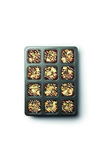 34 x 26 cm MasterClass 12-Hole Non-Stick Brownie Tin With Dividers