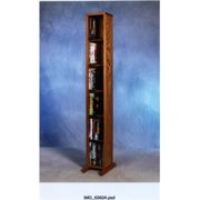 Wood Shed 615 Solid Oak 6 Row Dowel DVD Cabinet Tower