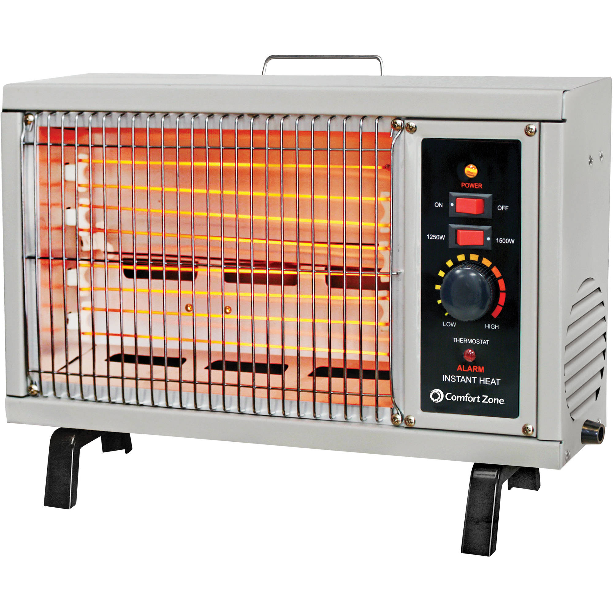 Comfort Zone 5,120-BTU Electric Radiant Heater, Gray CZ530WM ...