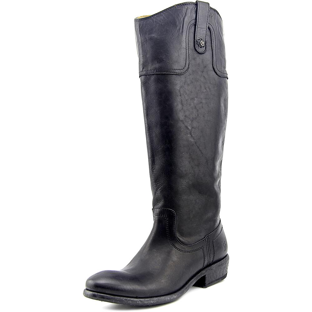 Frye Carson Riding Boot Wide Calf Women Round Toe Leather...