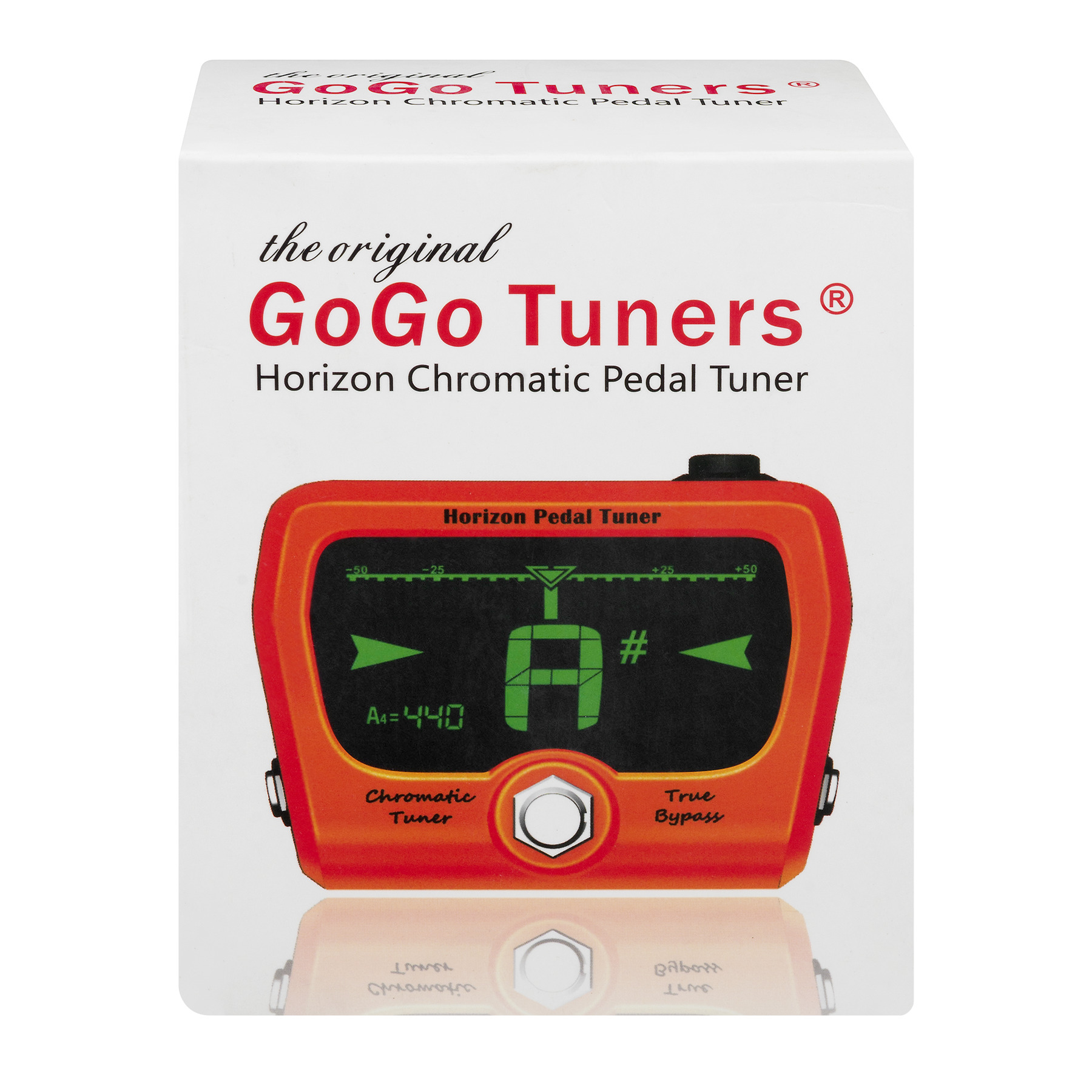 GoGo Tuners Horizon Pedal Tuner with ChromaCast Accessories, Orange