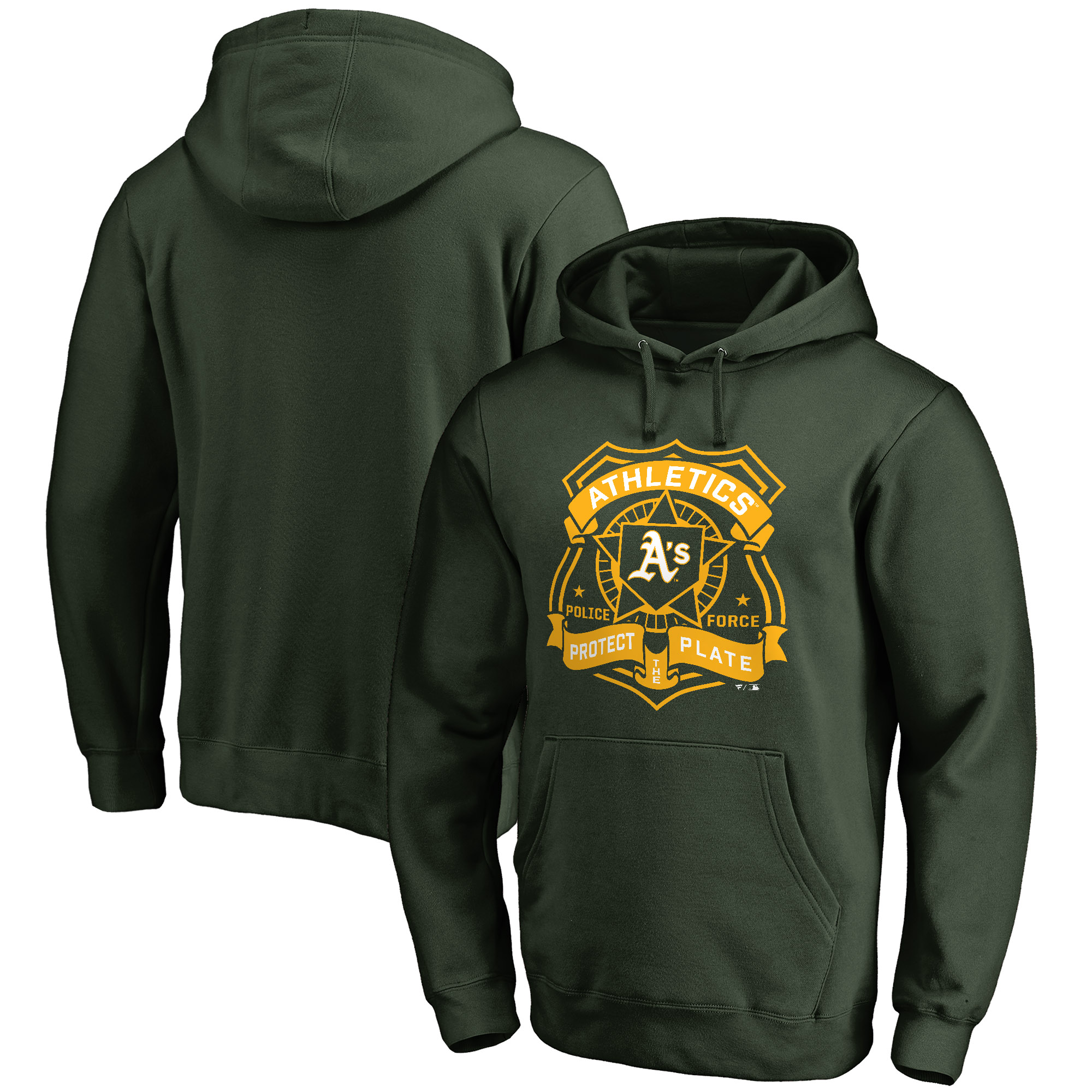 Oakland Athletics Police Badge Pullover Hoodie - Green