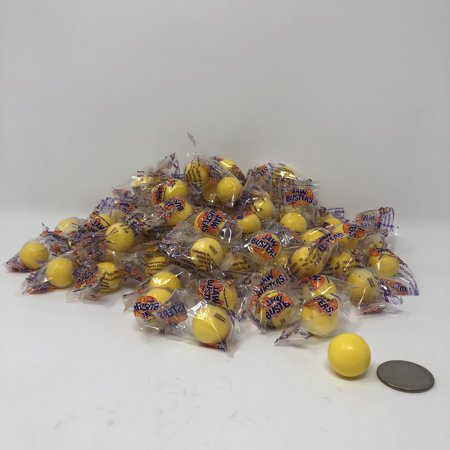 Jawbreakers Yellow Color Small wrapped candy jawbreaker jaw breaker 2 pounds